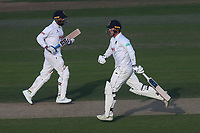 Tom Westley and Murali Vijay add to the Essex total during Nottinghamshire CCC vs Essex CCC, Specsavers County Championship Division 1 Cricket at Trent Bridge on 12th September 2018