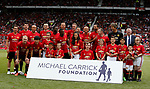 The Manchester United 08 XI line up during the Michael Carrick Tetimonial match at the Old Trafford Stadium, Manchester. Picture date: June 4th 2017. Picture credit should read: Simon Bellis/Sportimage