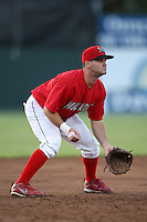 Batavia Muckdogs second baseman Joey Bergman (40)  during a game vs. the Auburn Doubledays at Dwyer Stadium in Batavia, New York July 2, 2010.   Batavia defeated Auburn 6-3.  Photo By Mike Janes/Four Seam Images
