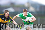 James O'Donoghue  Legion goes past Crokes David O'Leary during the O'Donoghue cup final in Fitzgerald Stadium on Sunday
