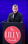 David Cromer on stage during the 9th Annual LILLY Awards at the Minetta Lane Theatre on May 21,2018 in New York City.