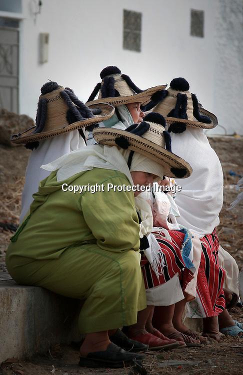 Berber women in a rural area near Tanger, Morocco..
