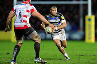 Jonathan Joseph of Bath Rugby in possession. Aviva Premiership match, between Gloucester Rugby and Bath Rugby on March 26, 2016 at Kingsholm Stadium in Gloucester, England. Photo by: Patrick Khachfe / Onside Images