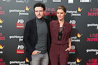 "Diego Martin and Amaia Salamanca attend the Premiere of the movie ""El club de los incomprendidos"" at callao Cinema in Madrid, Spain. December 1, 2014. (ALTERPHOTOS/Carlos Dafonte) /NortePhoto<br />