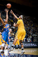 Justine Hartman of California shoots the ball during the game against UCLA at Haas Pavilion in Berkeley, California on January 20th, 2013.   California defeated UCLA, 70-65.