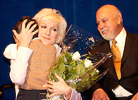 File Photo Dec 2003, Montreal, (Quebec), Canada<br /> <br /> Celine Dion (L) and Rene Angelil (R) at the STE-JUSTINE HOSPITAL for children,  in Montreal, CANADA,
