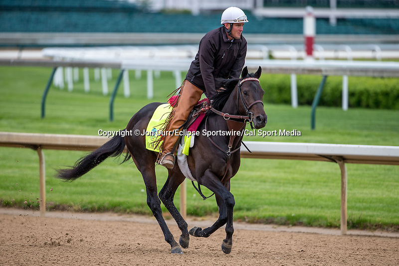 APRIL 26, 2015: Ocho Ocho Ocho, trained by Jim Cassidy exercises in preparation for the 141st Kentucky Derby at Churchill Downs in Louisville, KY. Jon Durr/ESW/Cal Sport Media