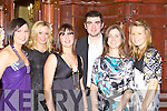 Sarah Jane Joy, Amanda Arthurs, Linda Foley, Brendan Griffin, roisin griffin and Hazel Griffin Keel showing their style at the Mid Kerry County Championship celebration social in the Killarney Avenue Hotel on Saturday night