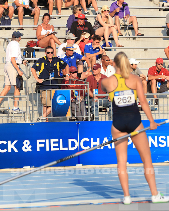 The University of Michigan women's track and field national qualifiers in competition at Drake Stadium in Des Moines, Iowa, on June, 6, 2012.
