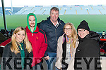 Kerry fans attending the Kerry v Limerick McGrath Cup Football Final on Sunday last in Limerick GAA Grounds were l-r: Krystal Stack (Listowel), Joe O'Sullivan (Kilmoyley), Mike Foley (Ballydonoghue) with Jackie and John Stack (Listowel)