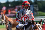 September 05, 2020: Saratoga Pai #12, ridden by Eric Cancel, trained by  Chris Engelhart wins the 6th race.on NewYork Bred Stakes Day at Saratoga Race Course in Saratoga Springs, New York. Rob Simmons/CSM