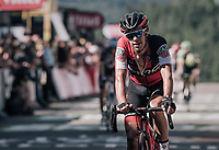 Richie Porte (AUS/BMC) crossing the finiah line<br /> <br /> 104th Tour de France 2017<br /> Stage 5 - Vittel &rsaquo; La Planche des Belles Filles (160km)