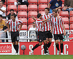Sunderland's Daryl Murphy is congratulated on his goal by team mates...Pre-Season Friendly..Sunderland v Juventus..4th August, 2007..--------------------..Sportimage +44 7980659747..admin@sportimage.co.uk..http://www.sportimage.co.uk/