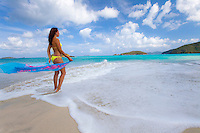 Natalie Klein at Cinnamon Bay.Virgin Islands National Park.St. John, U.S. Virgin Islands