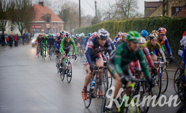 3 Days of West-Flanders, .day 3: Nieuwpoort-Ichtegem.rained-soacked peloton