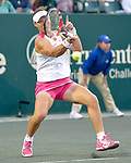 Samantha Stosur (AUS) battles Lucie Safarova (CZE) at the Family Circle Cup in Charleston, South Carolina on April 3, 2014.