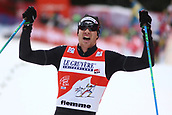 7th January 2018, Val di Fiemme, Fiemme Valley, Italy; FIS Cross Country World Cup, Tour de ski; Mens 9km F Pursuit; Dario Cologna (SUI) crosses the finish line