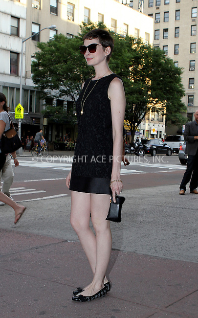 WWW.ACEPIXS.COM . . . . .  ....July 10 2012, New York City....Actress Anne Hathaway arrives at an event on July 10 2012 in New York City....Please byline: NANCY RIVERA- ACEPIXS.COM.... *** ***..Ace Pictures, Inc:  ..Tel: 646 769 0430..e-mail: info@acepixs.com..web: http://www.acepixs.com