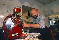 - Italian food , typical kitchen of the Emilia region, restaurant &quot;Da Ivan&quot; in Roccabianca (Parma), the owner Aldo Boselli<br /> <br /> - Cibo italiano, cucina tipica della regione Emilia, ristorante &quot;Da Ivan&quot; di Roccabianca (Parma), il titolare Aldo Boselli
