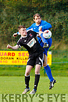 Eanna Killarney Athletic clears the ball against Janesboro in Woodlawn on Sunday