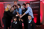 Real Business Challenge 2011.The winners of the Real Business Challenge Best Radio Commercial Category from Cyfarthfa High School in Merthyr with Coca-Cola Regional Director Mark Dewhurst..25.11.11.©Steve Pope