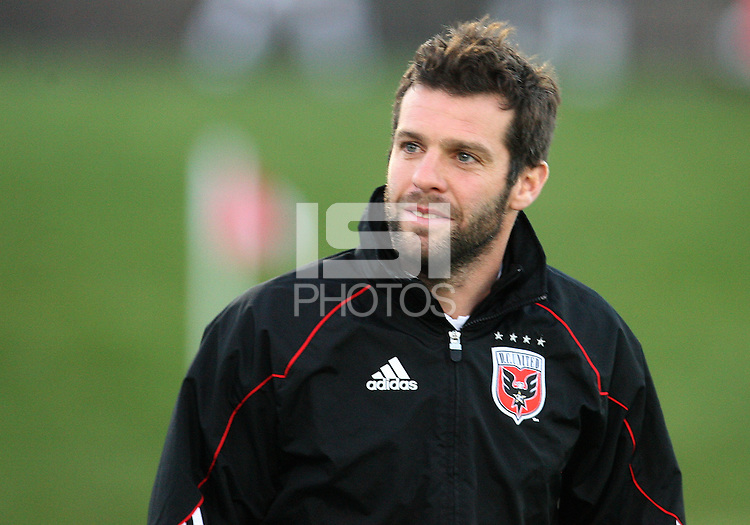 Ben Olsen coach of D.C. United  during a play-in game for the US Open Cup tournament against the Philadelphia Union at Maryland Sportsplex, in Boyds, Maryland on April 6 2011. D.C. United won 3-2 after overtime penalty kicks.