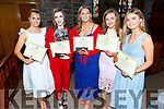 Katie Nagle, Tara Lynch Rattigan, Shauna Flynn, Eidín Dowling and Amy O'Mahony at their Mercy Mounthawk Graduation ceremony in St John's on Friday.