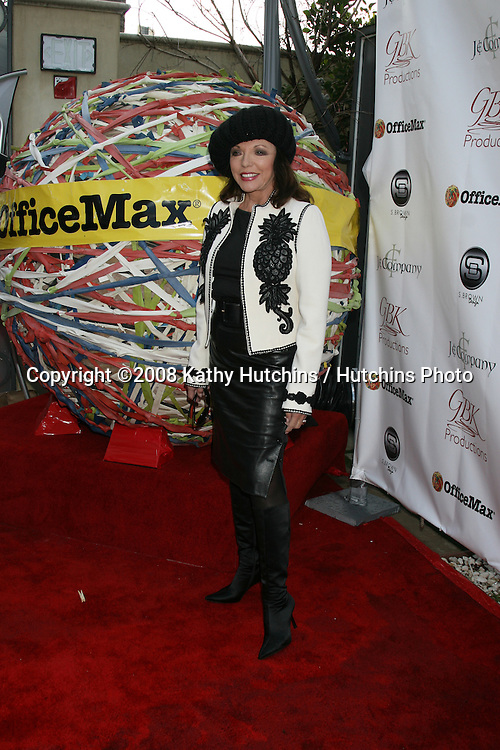 Joan Collins.GBK Productions Oscar Gifting Suite.Boulevard3.Los Angeles, CA.February 22, 2008.©2008 Kathy Hutchins / Hutchins Photo....