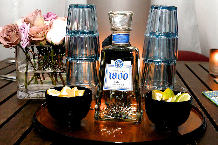 A photo of a 1800 Tequila bottle at the 1800 Tequila Vibe Party at the Ganesvort Hotel in New York City on July 8, 2008.(Photo For 1800 Tequila)