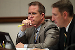 Nevada Sen. Mark Hutchison, R-Las Vegas, works in committee at the Legislative Building in Carson City, Nev. on Tuesday, Feb. 5, 2013. .Photo by Cathleen Allison