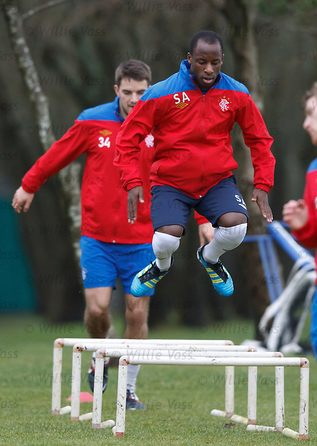 Sone Aluko at training
