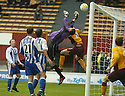 18/08/2007       Copyright Pic: James Stewart.File Name : sct_jspa19_motherwell_v_kilmarnock.THE CONTROVERSIAL FOUL WHICH WAS GIVEN FOR DARREN SMITH'S CHALLENGE ON ALAN COMBE WHICH LED TO MOTHERWELL'S GOAL BEING DISALLOWED, JUST BEFORE KILMARNOCK WENT UP THE PARK AND SCORED THE WINNER....James Stewart Photo Agency 19 Carronlea Drive, Falkirk. FK2 8DN      Vat Reg No. 607 6932 25.Office     : +44 (0)1324 570906     .Mobile   : +44 (0)7721 416997.Fax         : +44 (0)1324 570906.E-mail  :  jim@jspa.co.uk.If you require further information then contact Jim Stewart on any of the numbers above........