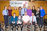 AWARD: Michael Cahill, Spa Road, Tralee who received a Kerry Garda achievement award at the Ballyroe Heights hotel, Tralee on Friday seated l-r: Michelle Cahill, Michael Jnr Cahill, Michael Snr Cahill and Sammy Locke. Back l-r: Patricia Fitzpatrick, Billy O'Connor, James B Cahill, Inspector Donal Ashe, Margaret Cahill, Margaret Cahill, Amelia Cahill and Dara O'Connor.