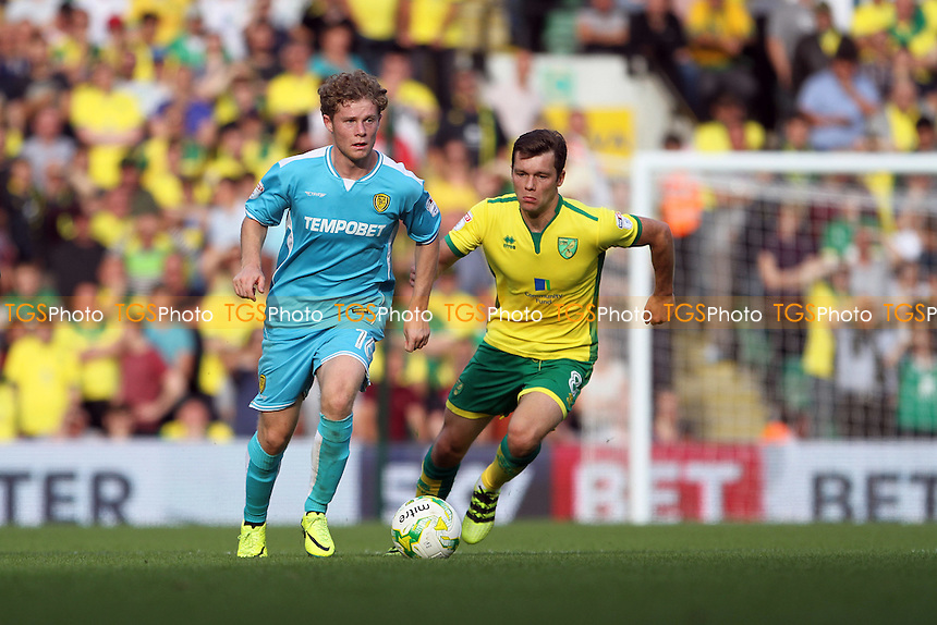 Matt Palmer of Burton Albion runs with the ball during Norwich City vs Burton Albion, Sky Bet EFL Championship Football at Carrow Road on 24th September 2016