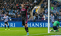 Leeds United's Patrick Bamford rues a near miss <br /> <br /> Photographer Andrew Kearns/CameraSport<br /> <br /> The EFL Sky Bet Championship - Sheffield Wednesday v Leeds United - Saturday 26th October 2019 - Hillsborough - Sheffield<br /> <br /> World Copyright © 2019 CameraSport. All rights reserved. 43 Linden Ave. Countesthorpe. Leicester. England. LE8 5PG - Tel: +44 (0) 116 277 4147 - admin@camerasport.com - www.camerasport.com