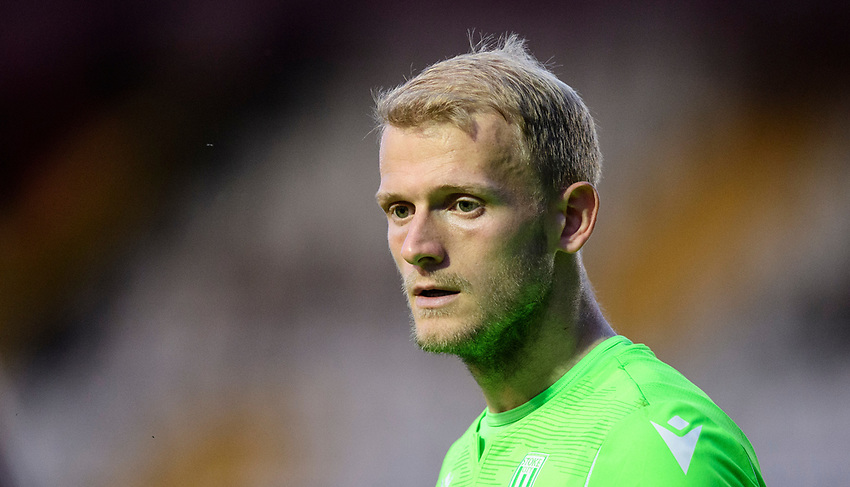 Stoke City's Adam Davies<br /> <br /> Photographer Chris Vaughan/CameraSport<br /> <br /> Football Pre-Season Friendly - Lincoln City v Stoke City - Wednesday July 24th 2019 - Sincil Bank - Lincoln<br /> <br /> World Copyright © 2019 CameraSport. All rights reserved. 43 Linden Ave. Countesthorpe. Leicester. England. LE8 5PG - Tel: +44 (0) 116 277 4147 - admin@camerasport.com - www.camerasport.com