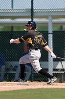 Pittsburgh Pirates Chase Simpson (47) during a minor league spring training game against the Toronto Blue Jays on March 21, 2015 at Pirate City in Bradenton, Florida.  (Mike Janes/Four Seam Images)