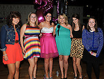 Melissa Matthews celebrating her 21st birthday with friends Sasha Kerr, Lauren Everitt, Marissa Godfrey, Holly McHugh and Hazel Kierans in the Star & Crescent. Photo: Colin Bell/pressphotos.ie