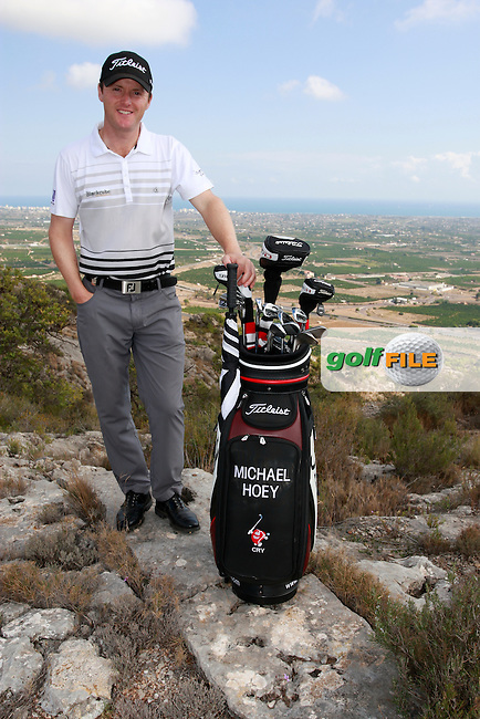 Micael Hoey (NIR) on top of the world after winning the 2011 Alfred Dunhill Links Championship. Photographed above Castellon, Spain, 22nd October 2011 (Photo Eoin Clarke/www.golffile.ie)