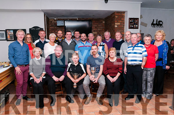 Last Outing : Members of the Kerry Ingredients Golf Society, Listowel celebrating the last outing of the society after 22 years at Brosnan's Bar, Listowel on Saturday night last.