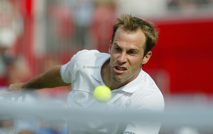 Photograph: Scott Heavey..Day 1 of the Stella Artois Championship at the Queens Club. 09/06/2003..Greg Rusedski