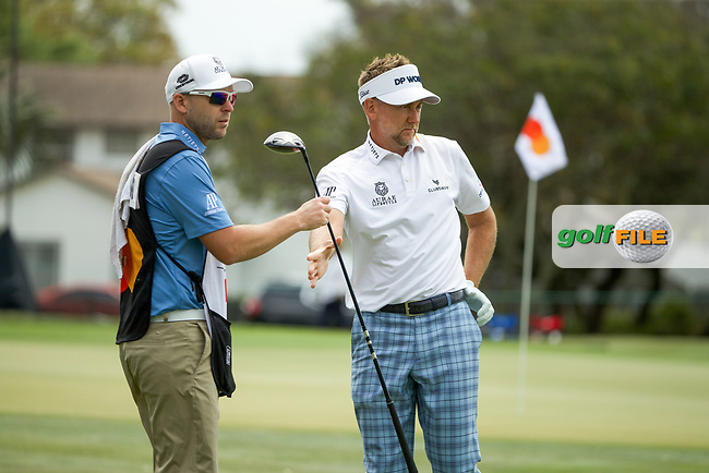 Ian Poulter (ENG) and caddy James Walton during the final round of the Arnold Palmer Invitational presented by Mastercard, Bay Hill, Orlando, Florida, USA. 08/03/2020.<br /> Picture: Golffile | Scott Halleran<br /> <br /> <br /> All photo usage must carry mandatory copyright credit (© Golffile | Scott Halleran)