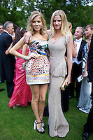 Elena Perminova and Lara Stone at Elton John's White Tie and Tiara Ball