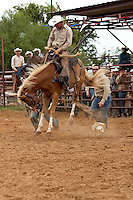 COTULLA, TX - SEPTEMBER 2, 2007: The Cotulla Ranch Rodeo Fiesta held at the Cotulla Rodeo Grounds in Cotulla, Texas. (Photo by Jeff Huehn)