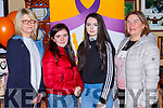 Mary O'Shea,Katie Palmer, Ava O'Shea and Mary Mohan at the coffee morning in aid of the Irish Cancer Society in the Failte bar on Saturday