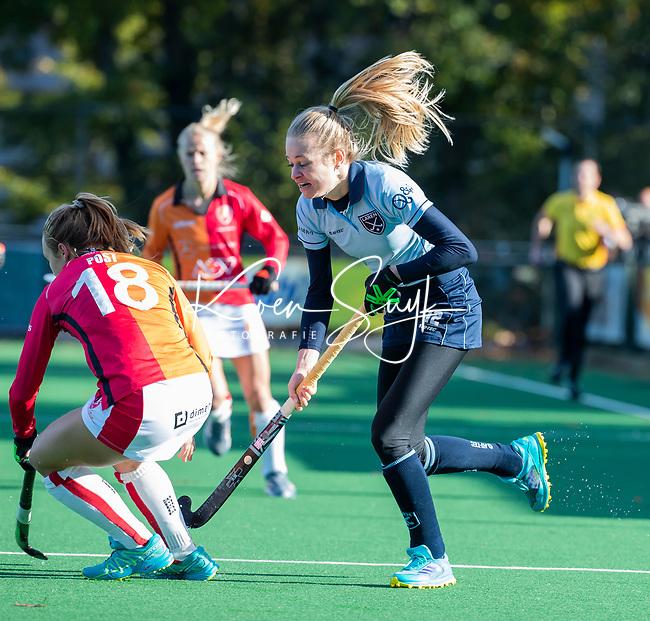 Laren - Josien Galama (Lar)  tijdens de Livera hoofdklasse  hockeywedstrijd dames, Laren-Oranje Rood (1-3).  COPYRIGHT KOEN SUYK