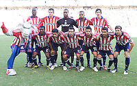 Chivas USA starting eleven. The LA Galaxy and Chivas USA played to 2-2 draw during a MLS Western Conference playoff game at Home Depot Center stadium in Carson, California on Sunday November 1, 2009...