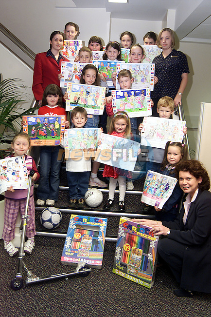 Prizewinners in the AIB Euro Colouring Competition. Also pictured with the prizewinners are Nadine Scott and Annmarie O'Brien, student officers with Catherine Rice..Picture: Paul Mohan/Newsfile