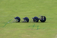 Four Warwickshire helmets in the field during Warwickshire CCC vs Essex CCC, Specsavers County Championship Division 1 Cricket at Edgbaston Stadium on 12th September 2019