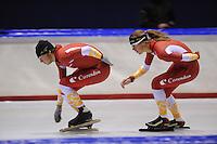 SCHAATSEN: HEERENVEEN: Thialf, 25-06-2012, Zomerijs, Team Corendon, Pepijn van der Vinne, Natasja Bruintjes, ©foto Martin de Jong